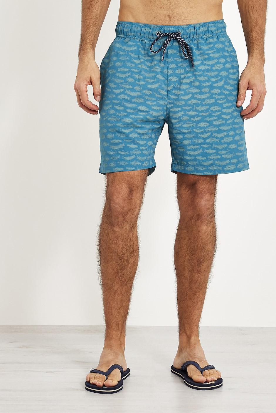 Barona Printed Board Shorts Harbour blue