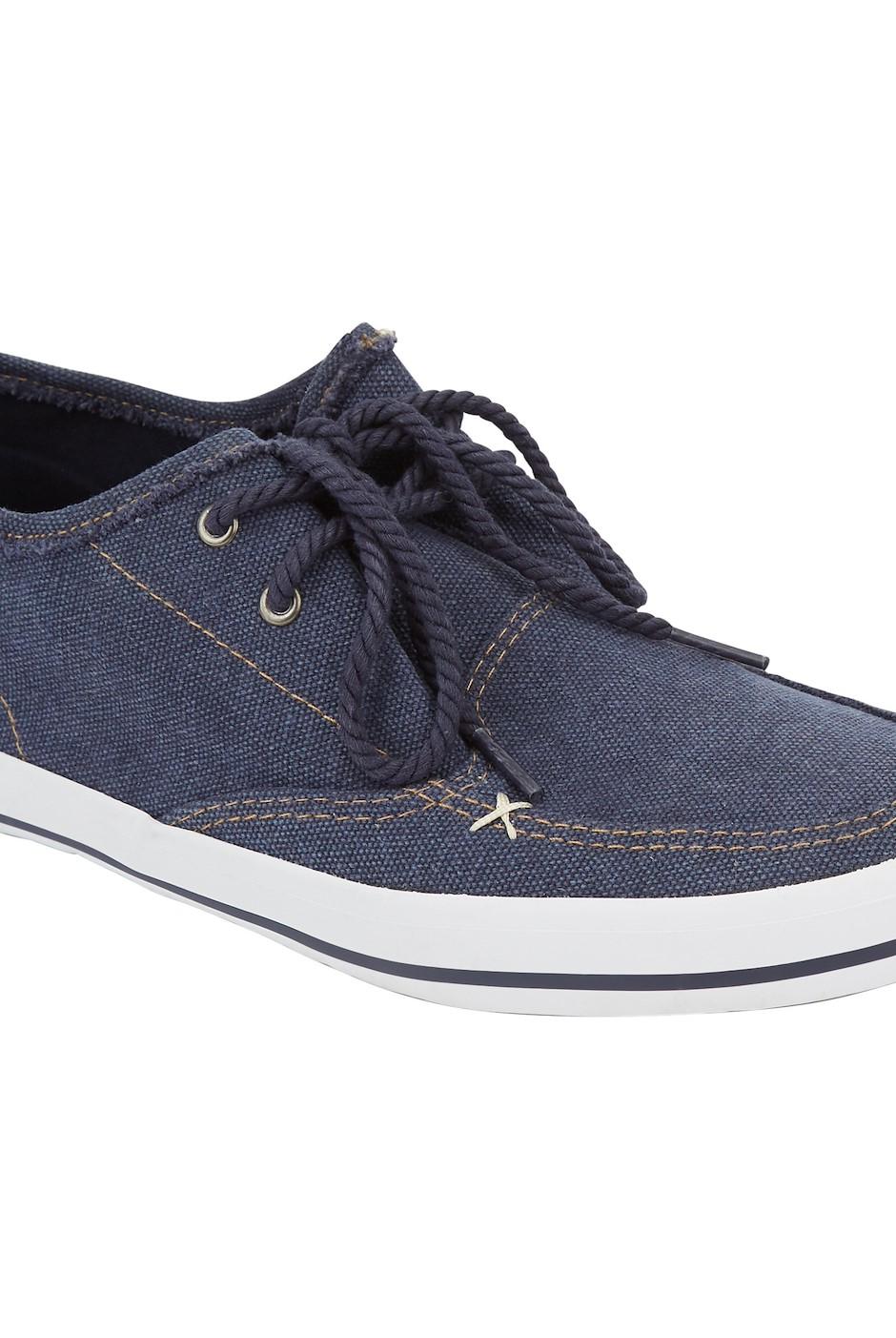 Harrison Canvas Lace Up Shoe Navy