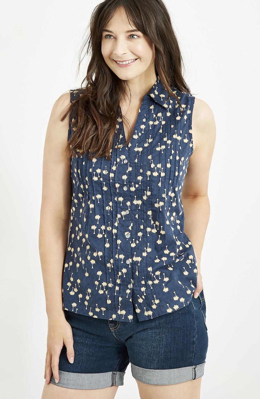 Wallace Sleeveless Shirt Maritime Blue