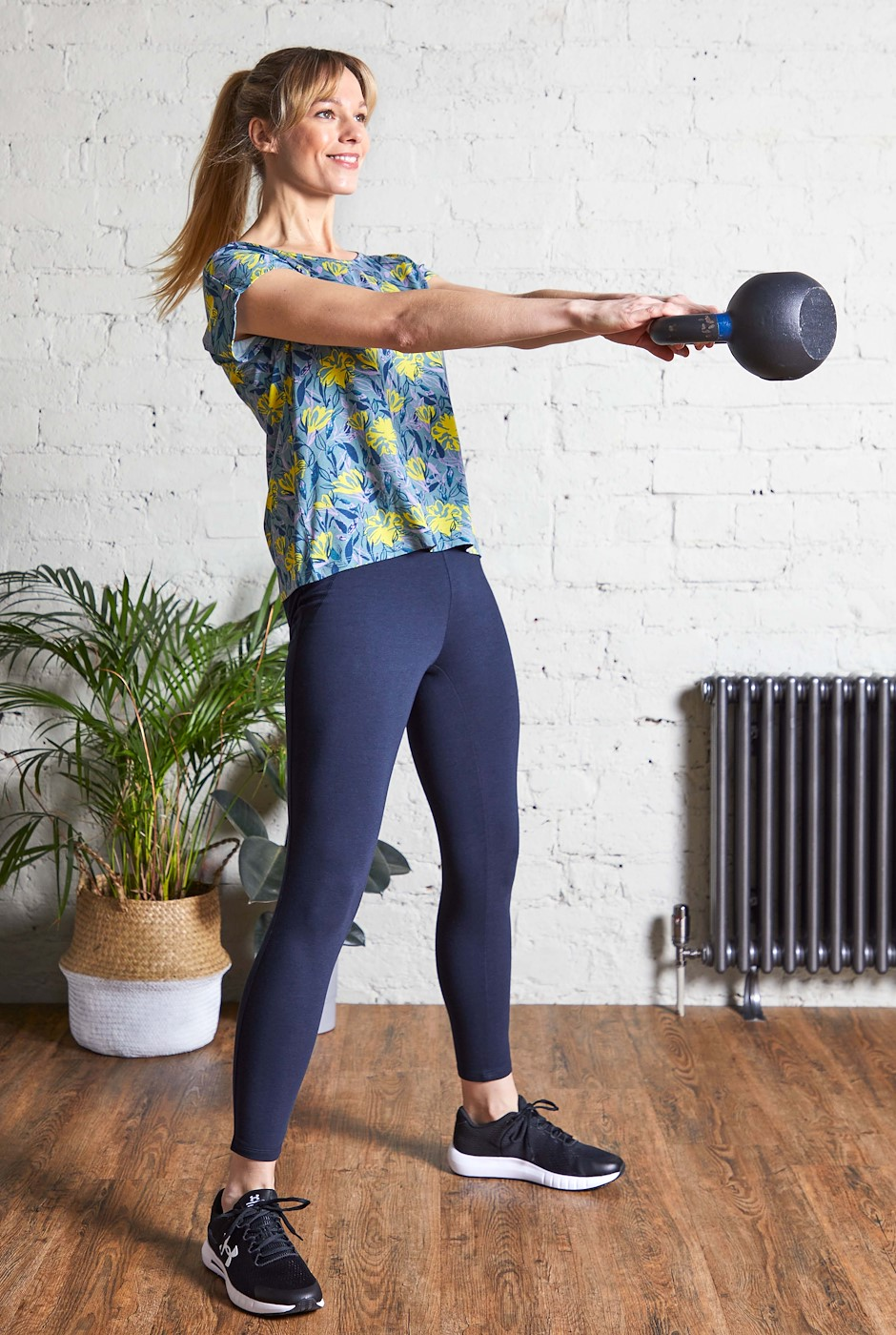 Kayla Bamboo Yoga Leggings Dark Navy
