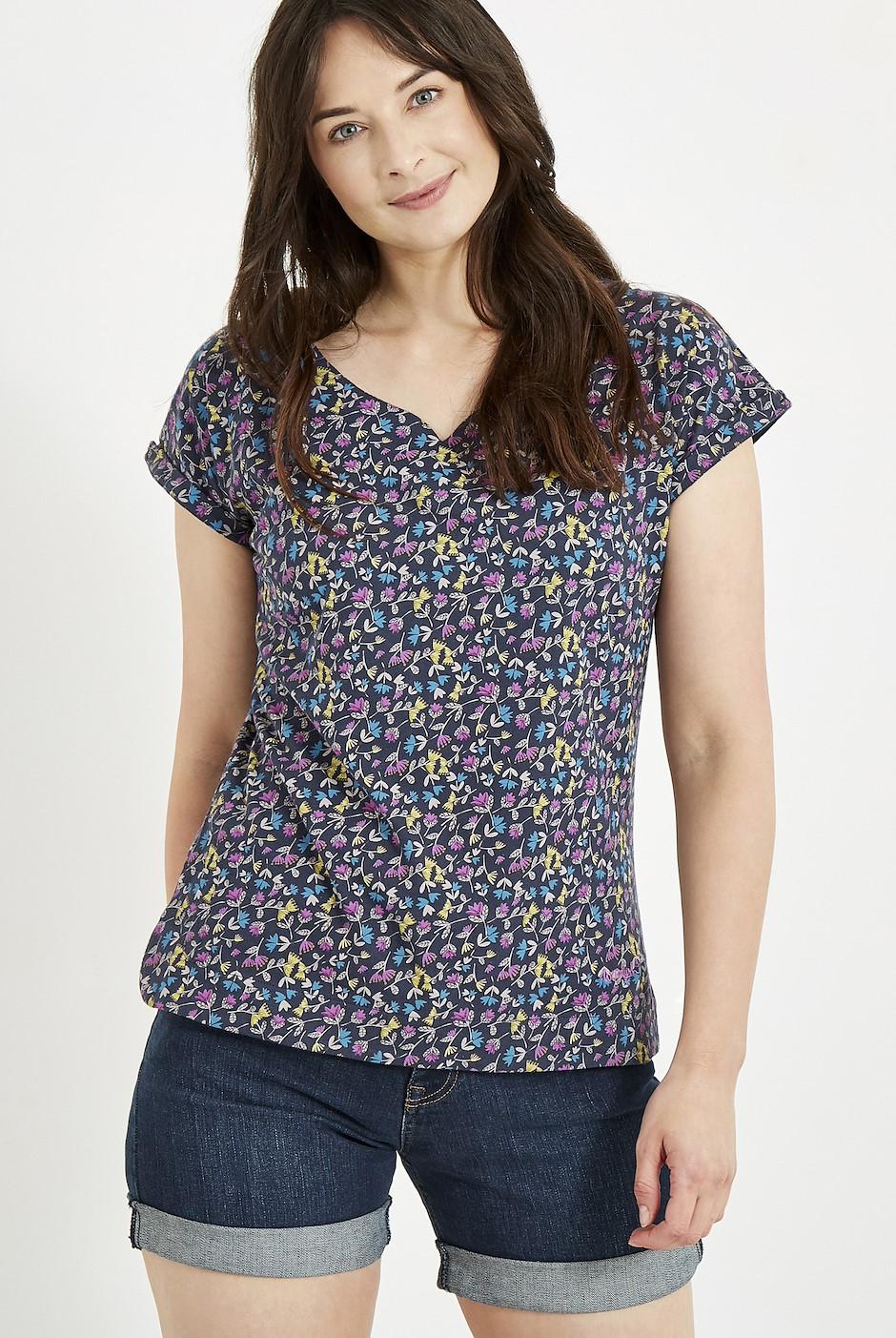 Sana Printed Jersey T-Shirt Ink
