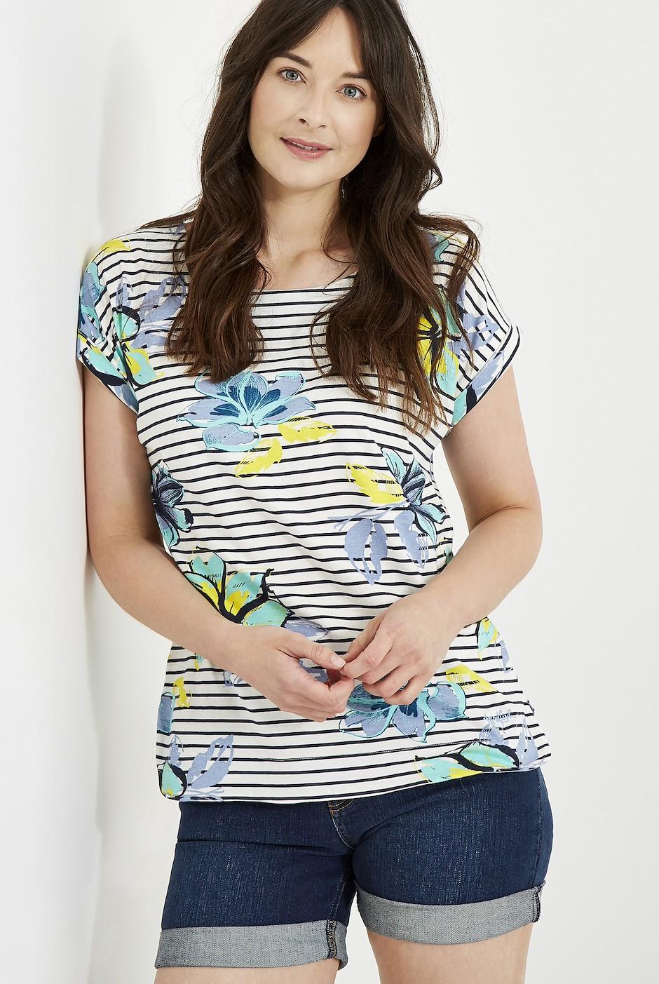 Paw Paw Printed Jersey T-Shirt Cream