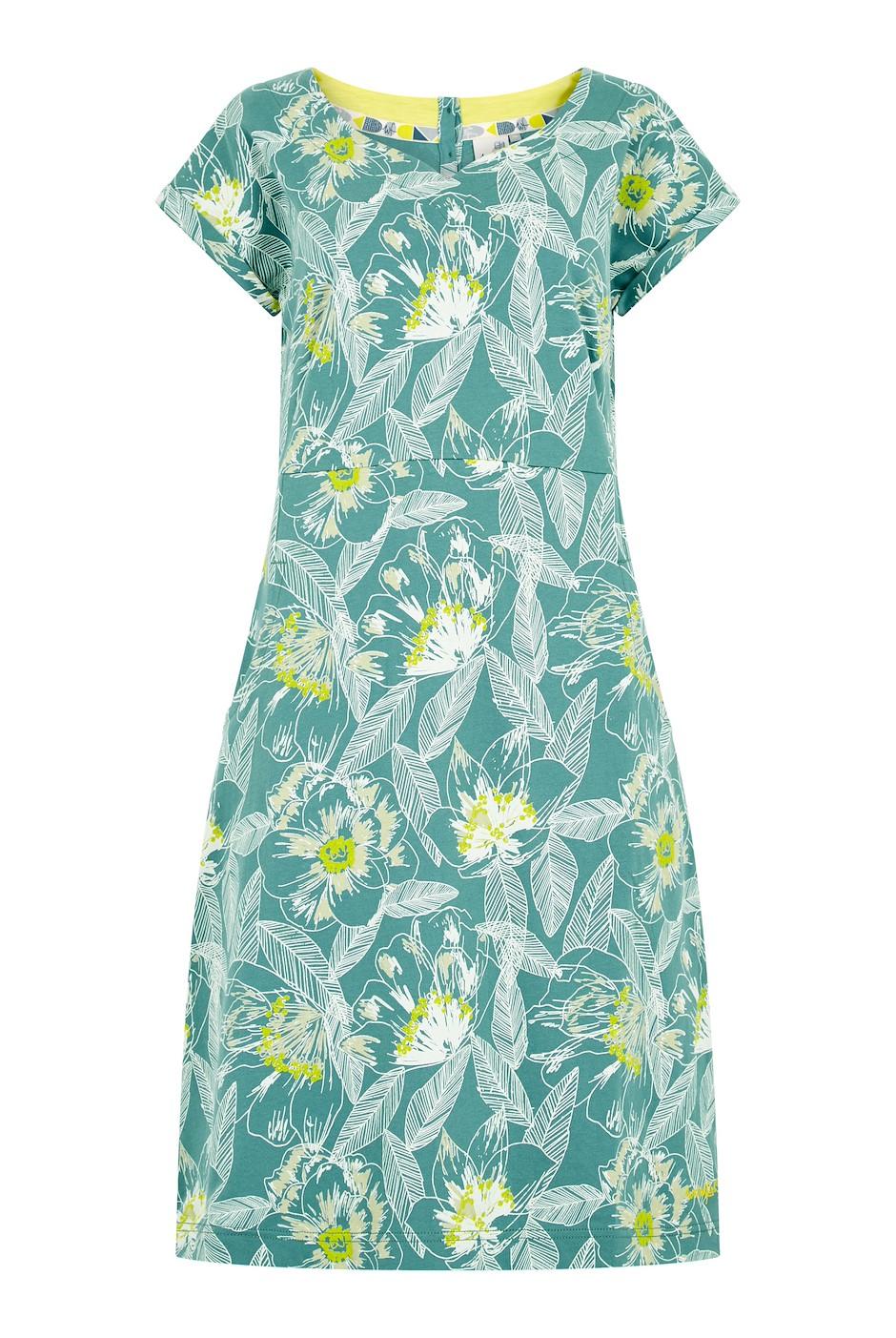 Biscayne Printed Jersey Dress Viridis