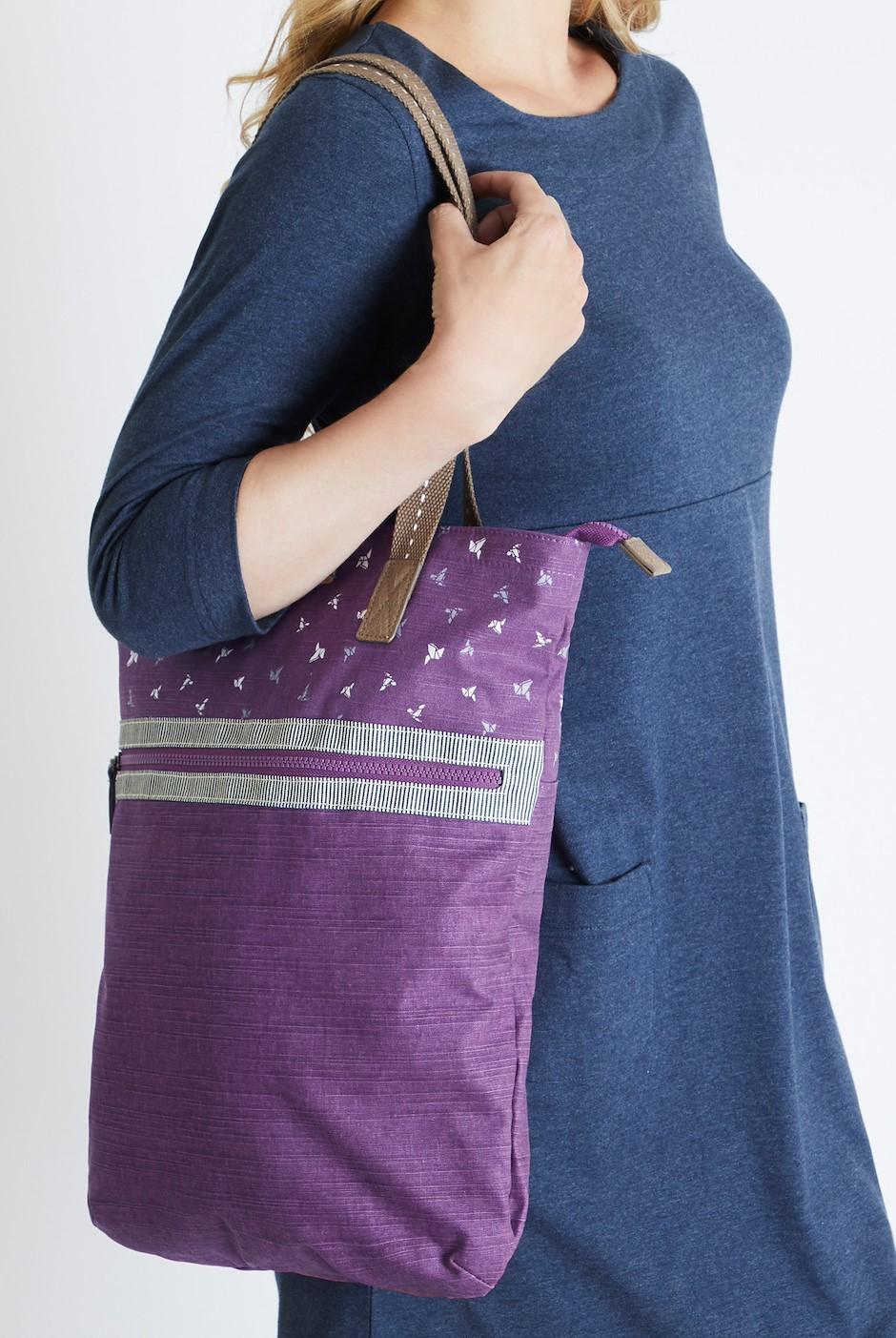 Sina Printed Shopper Bag Purple Potion