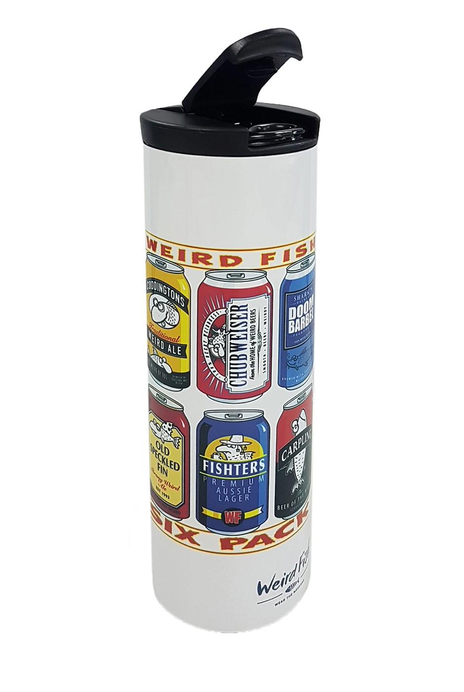Derek Artist Design Travel Flask White