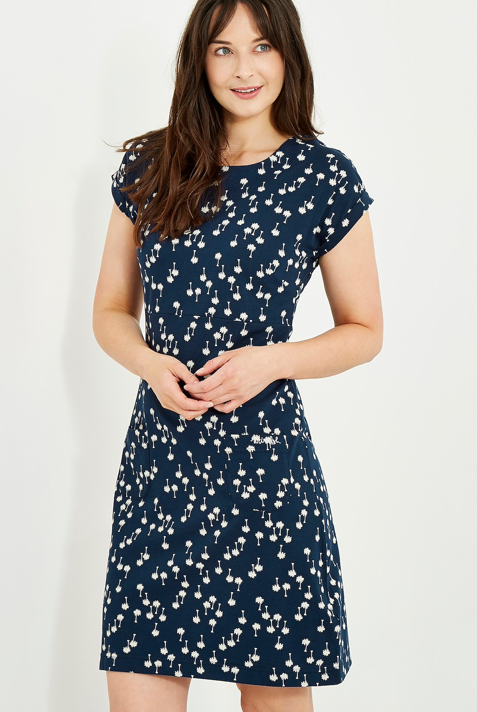 Tallahassee Printed Jersey Dress Maritime Blue