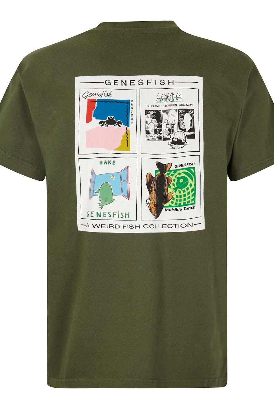 Genefish Artist T-Shirt Dark Olive