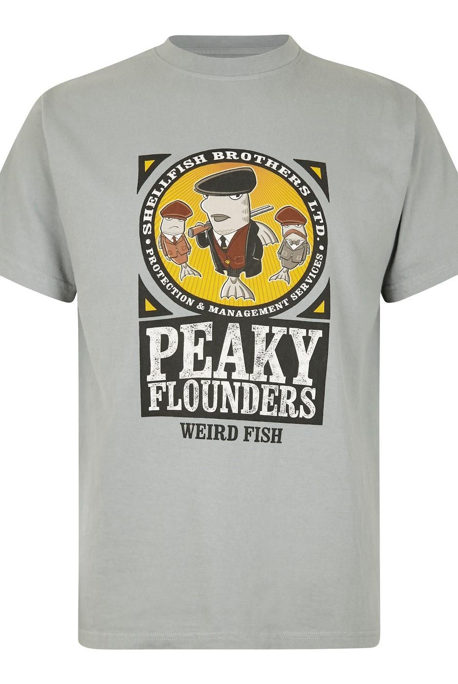 Peaky Flounders Artist T-Shirt Gunmetal