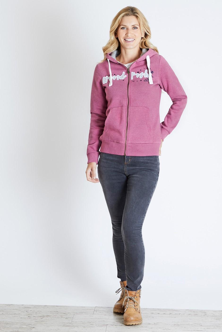 Corinne Branded Full Zip Hoodie Malaga