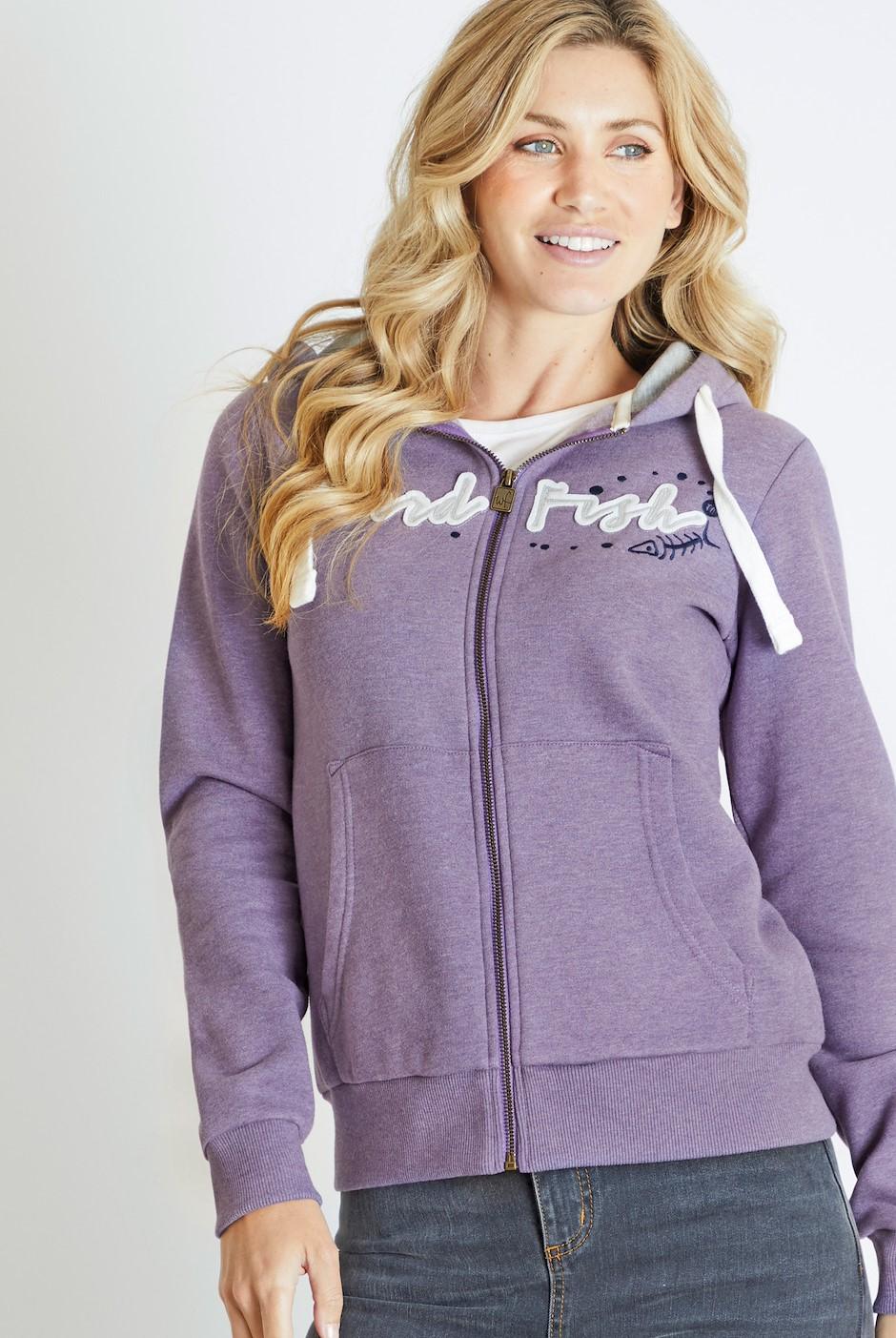 Corinne Branded Full Zip Hoodie Dewberry