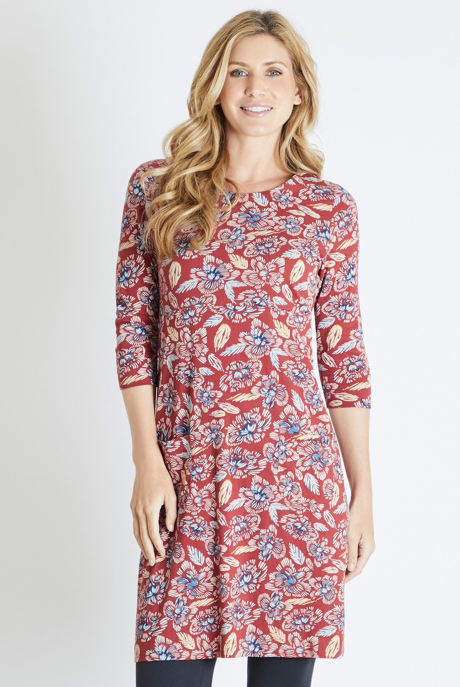 Starshine Printed Jersey Dress Chilli Red