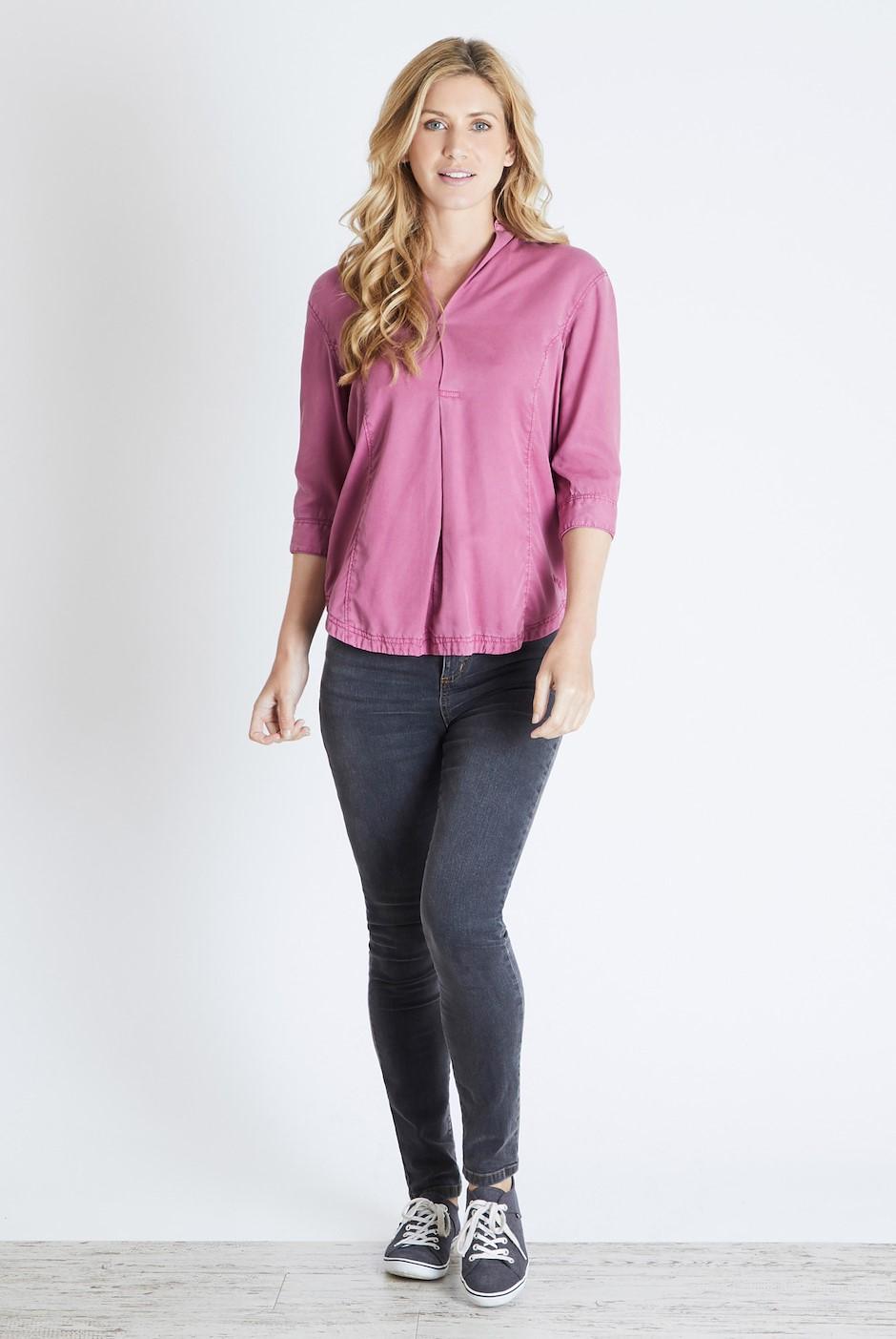 Isabella Tencel Plain Shirt Malaga
