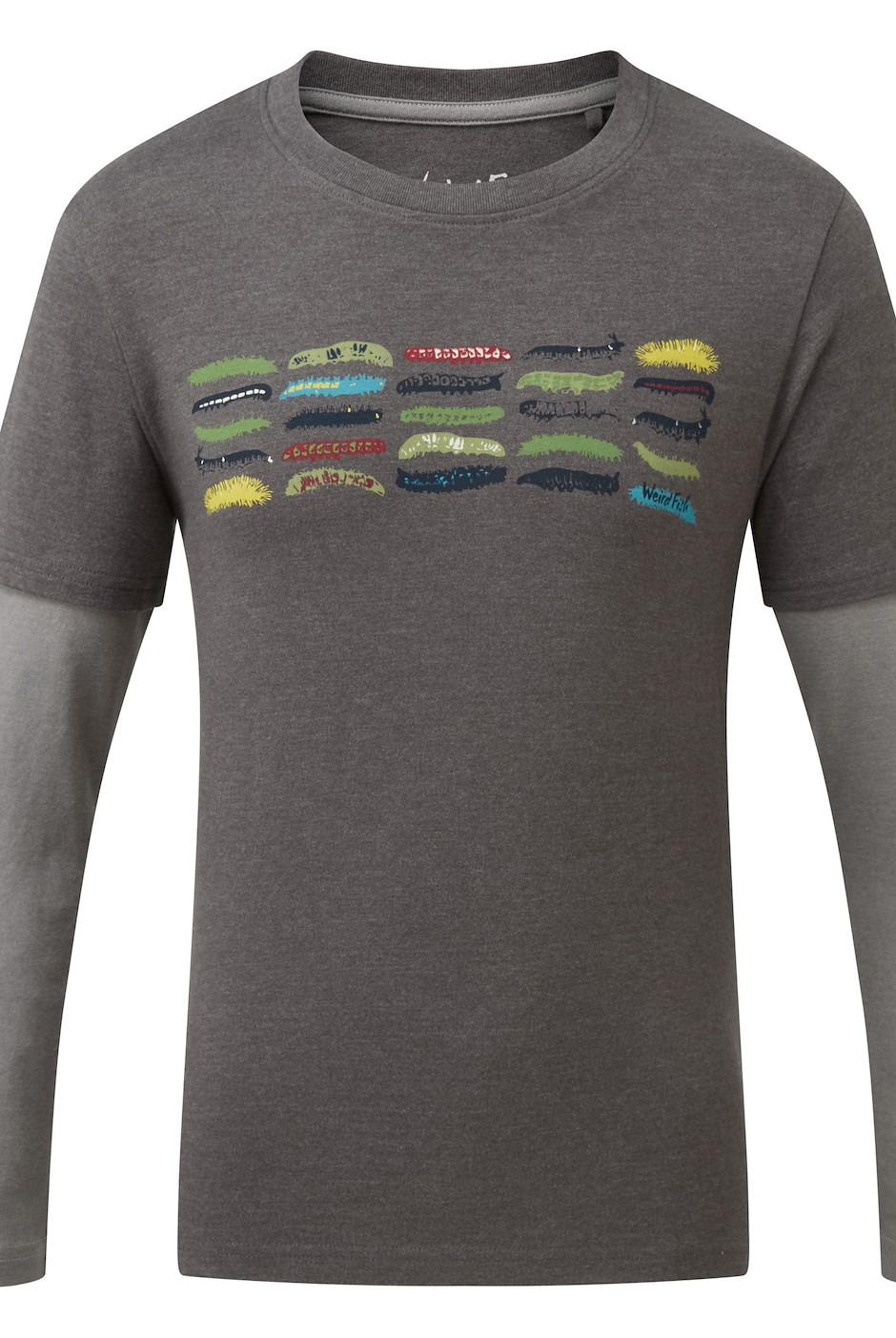 Caterpillars Long Sleeved Graphic T-Shirt Gunmetal Marl