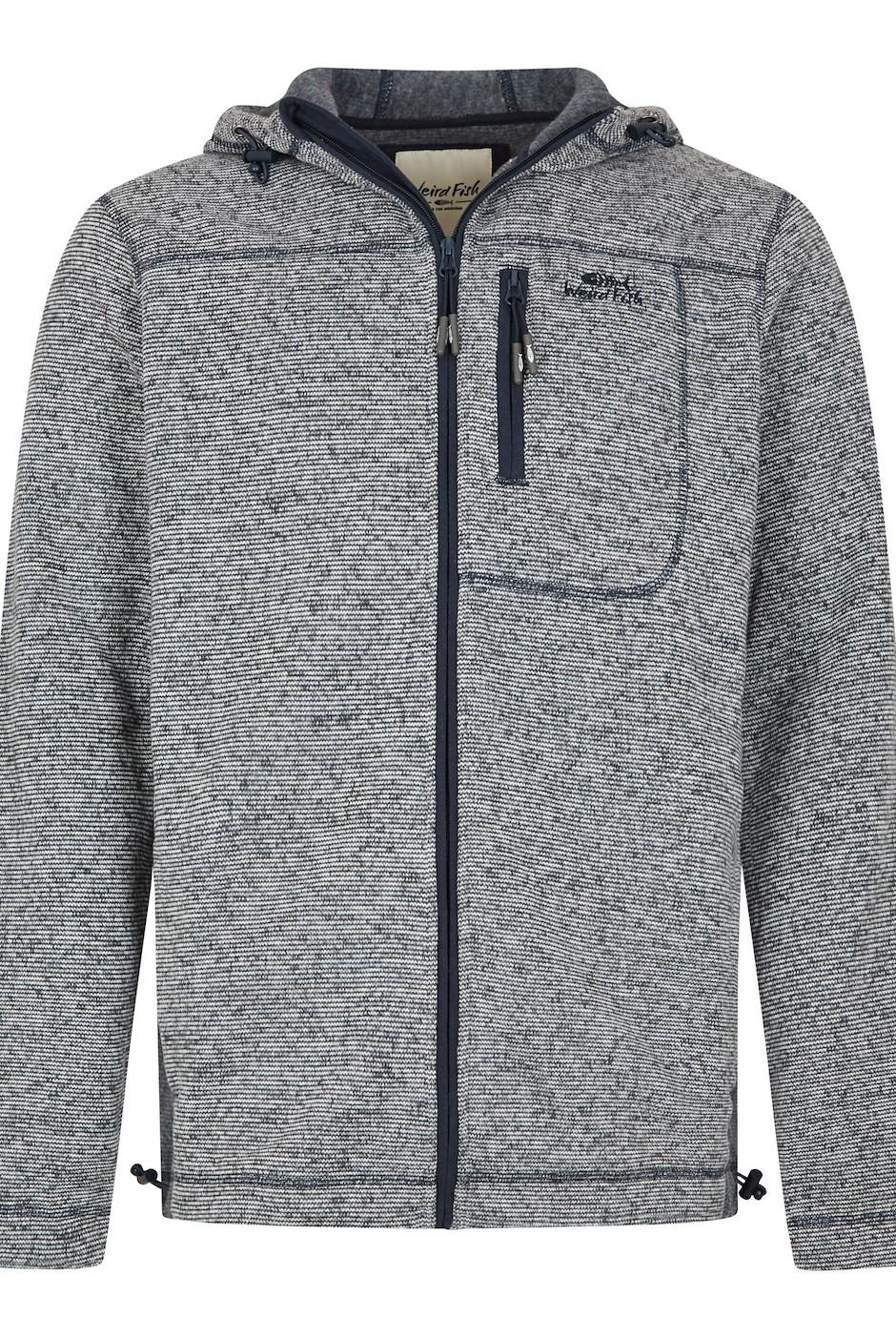 Cahill Full Zip Melange Fleece Navy