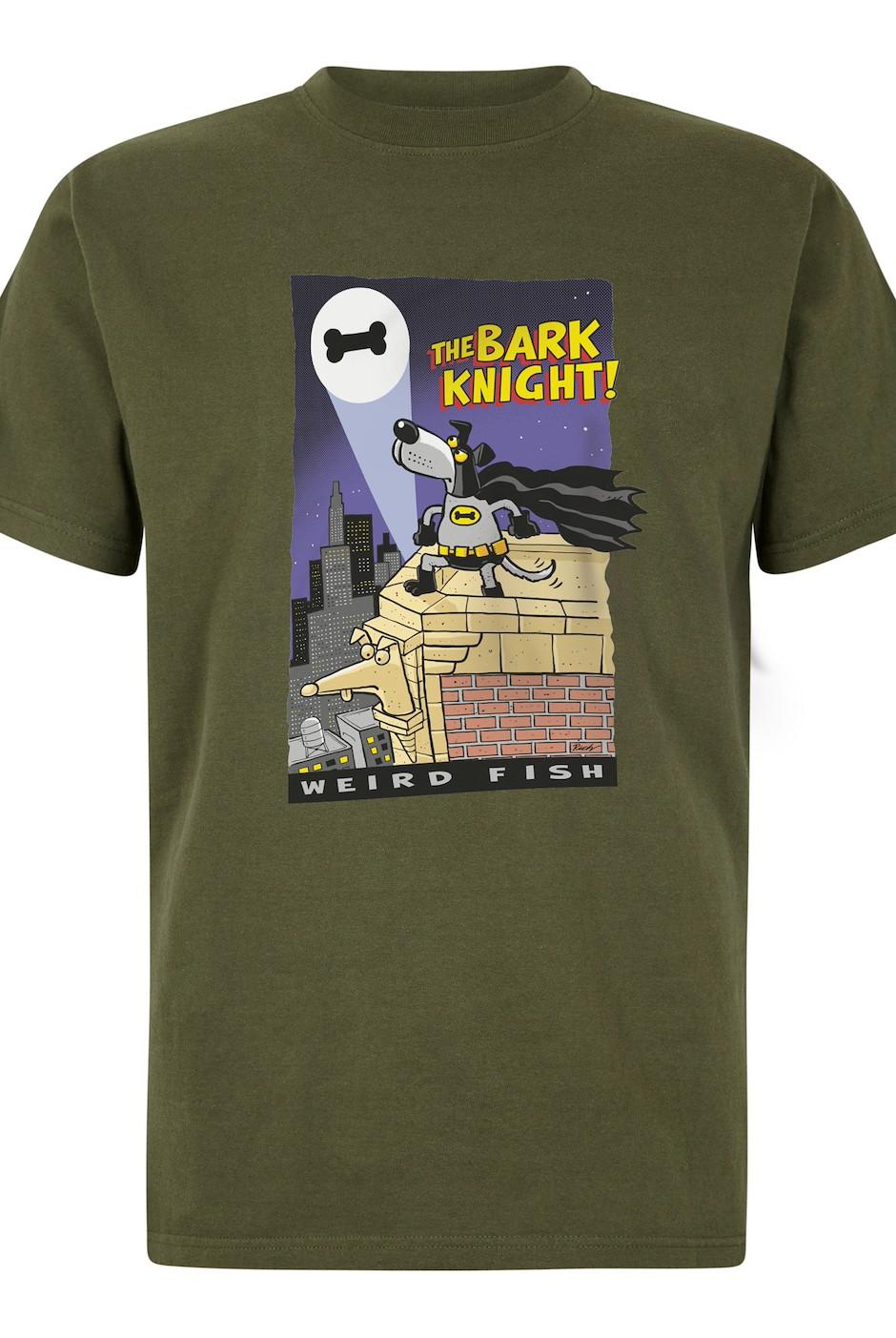 The Bark Knight Artist T-Shirt Dark Olive