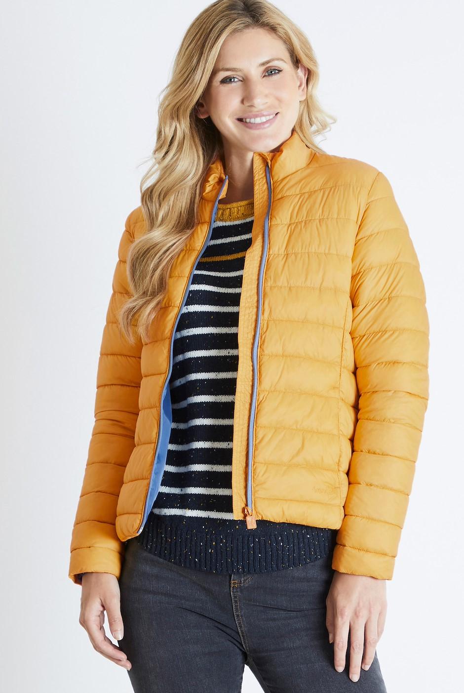 Olivia Wadded Jacket Amber Glow