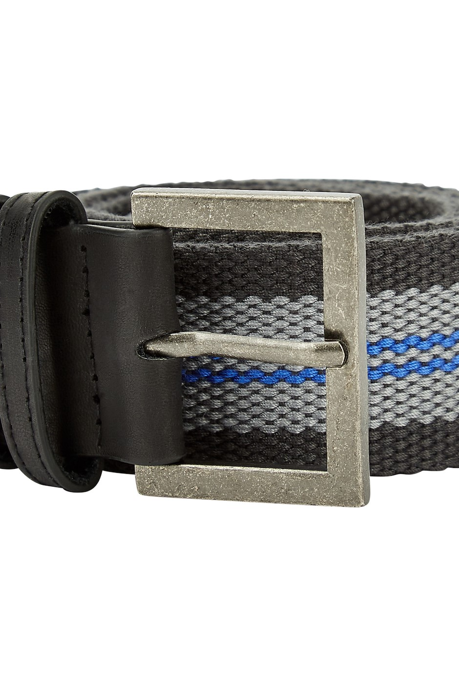 Randall Buckle Webbing Belt Washed Black