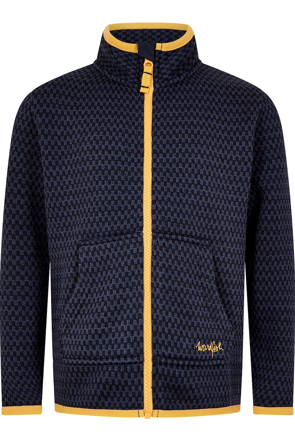 Warble Full Zip Textured Fleece Dark Navy (Size Age 14)