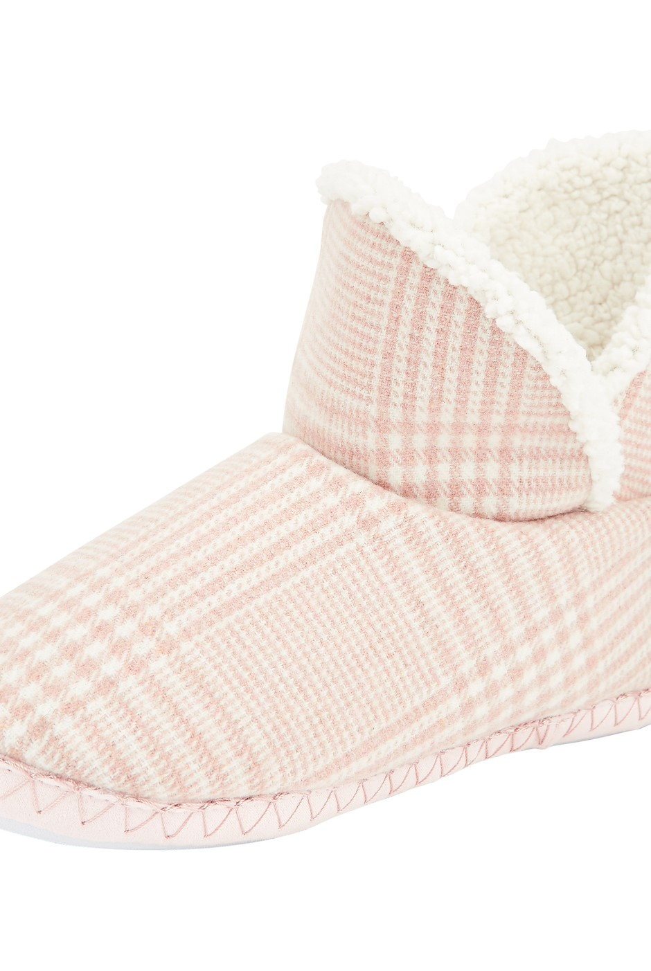 Vesta Checkered Slipper Boot Pink