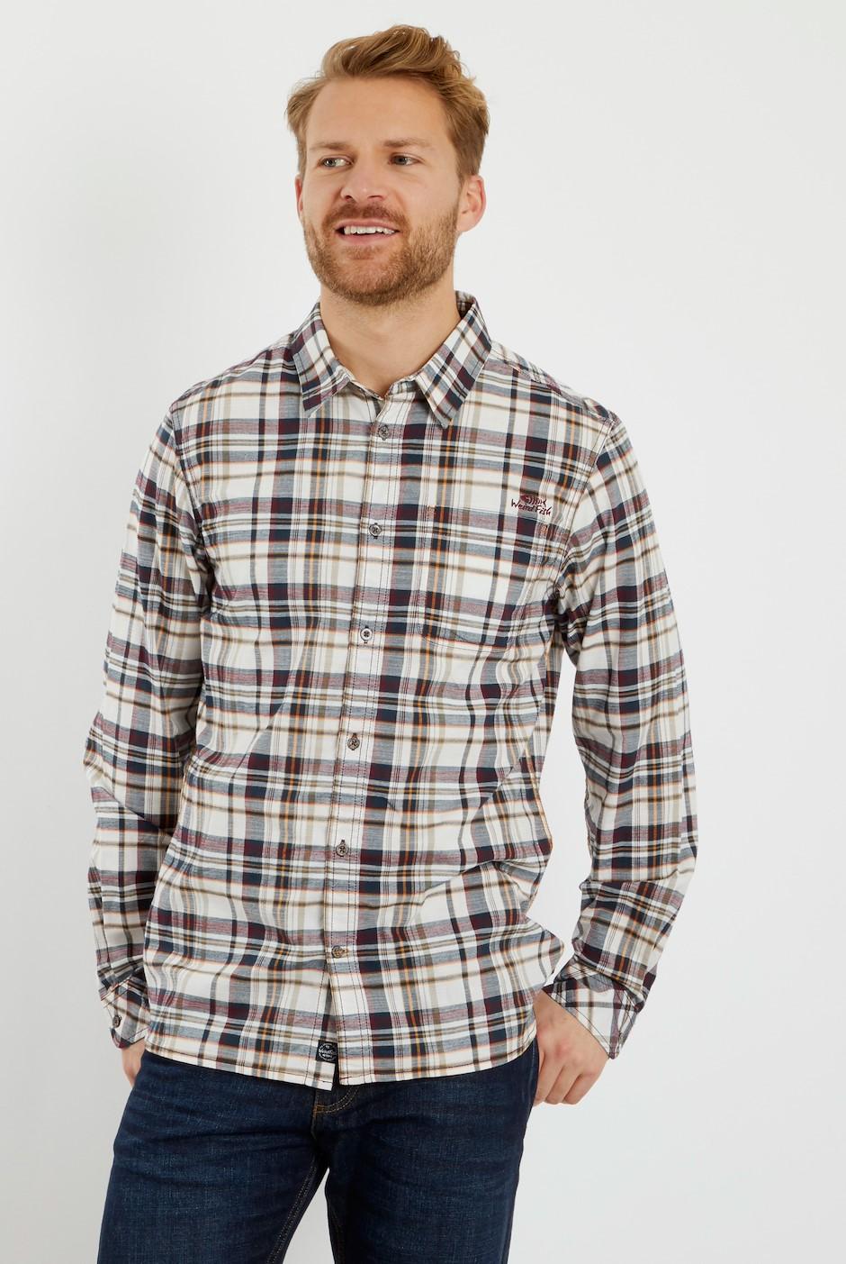 Gonzalo Long Sleeve Check Shirt Pinot Wine