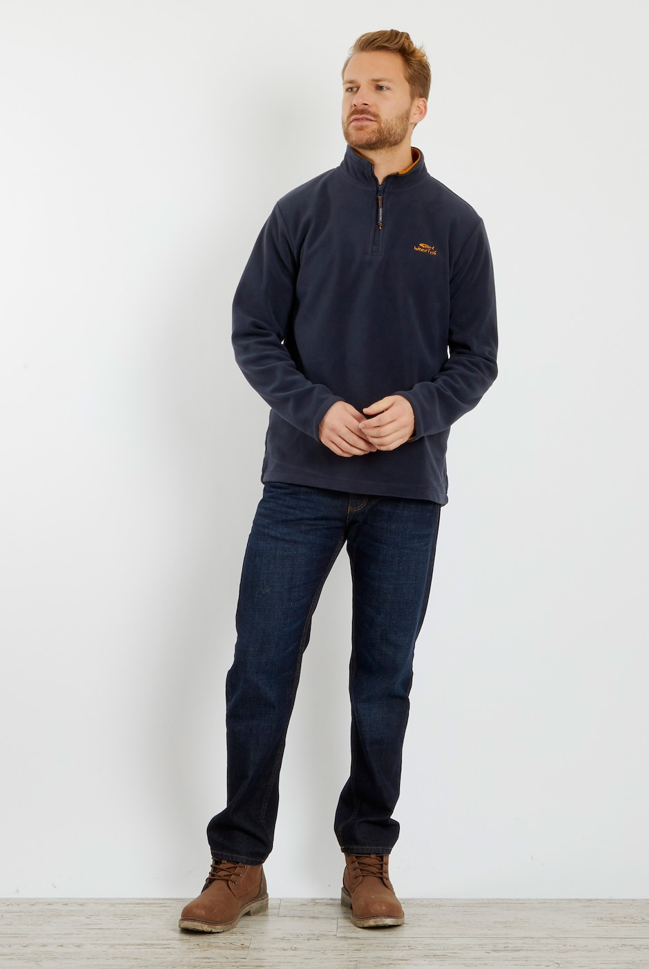 Gene 1/4 Zip Microfleece  Navy