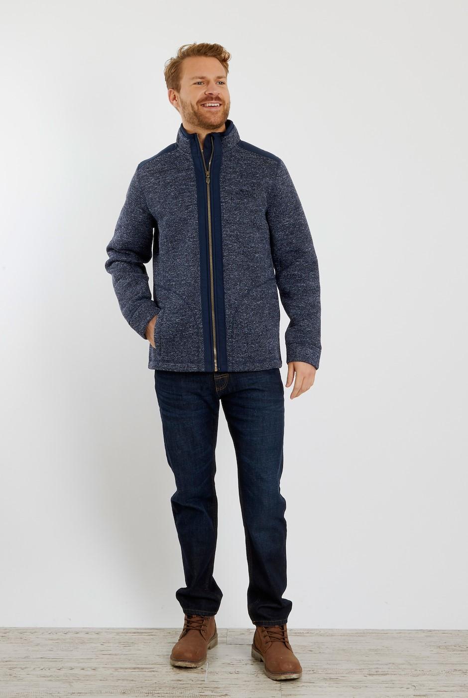 Alden Full Zip Bonded Fleece Navy