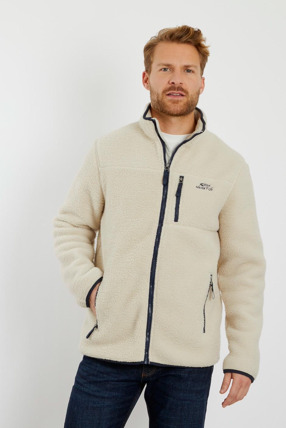 Rockie Borg Fleece Jacket Ecru