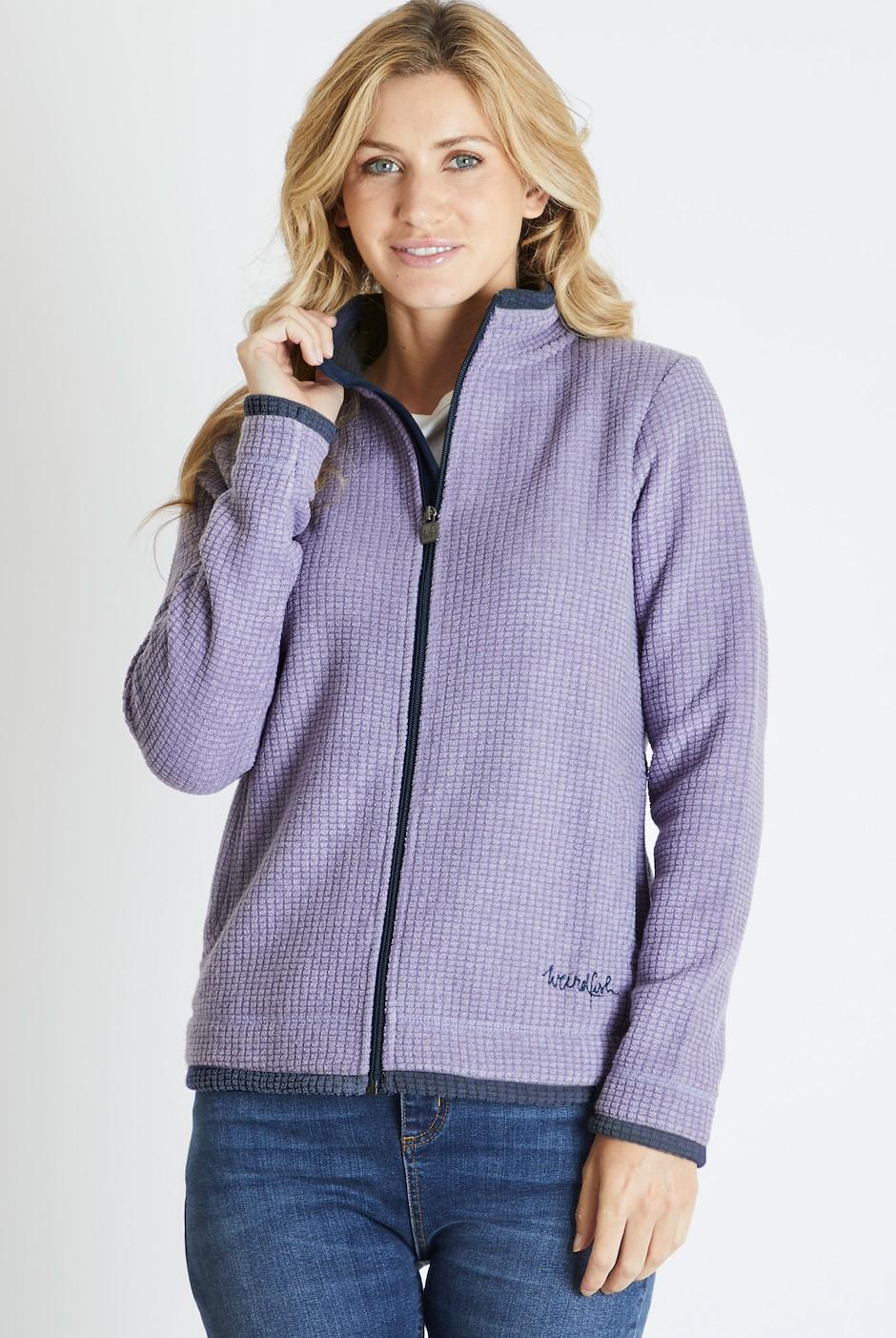 Ariana Grid Fleece Jacket Dewberry