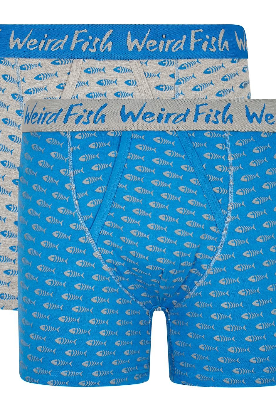 Lyman Boxer Shorts Twin Pack Blue Wash
