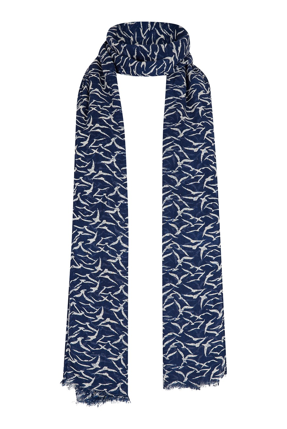 Alverton Patterned Scarf Dark Navy