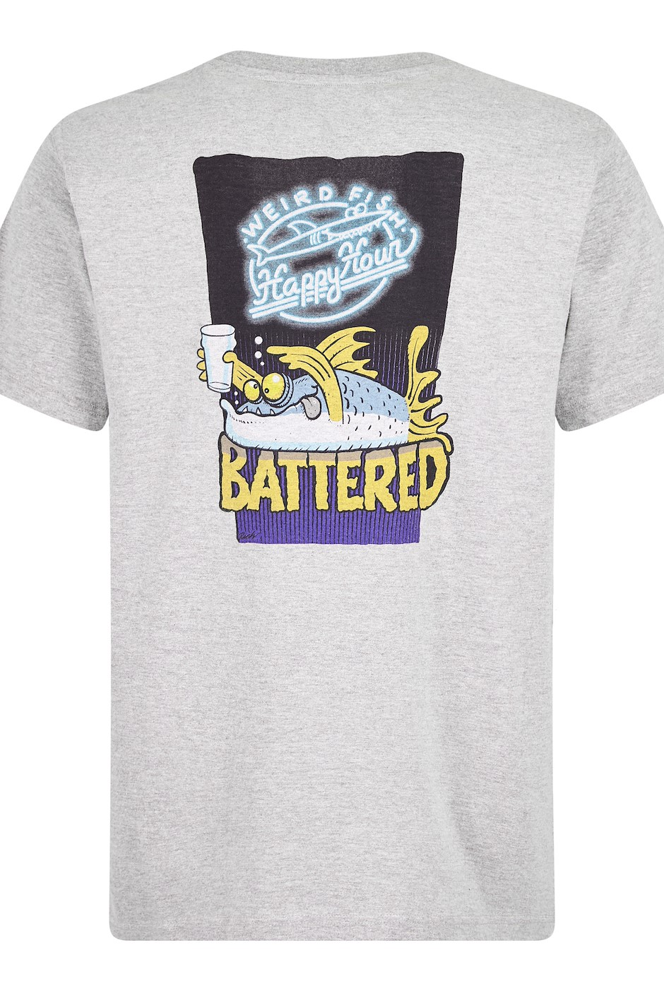 Battered Artist T-Shirt Grey Marl