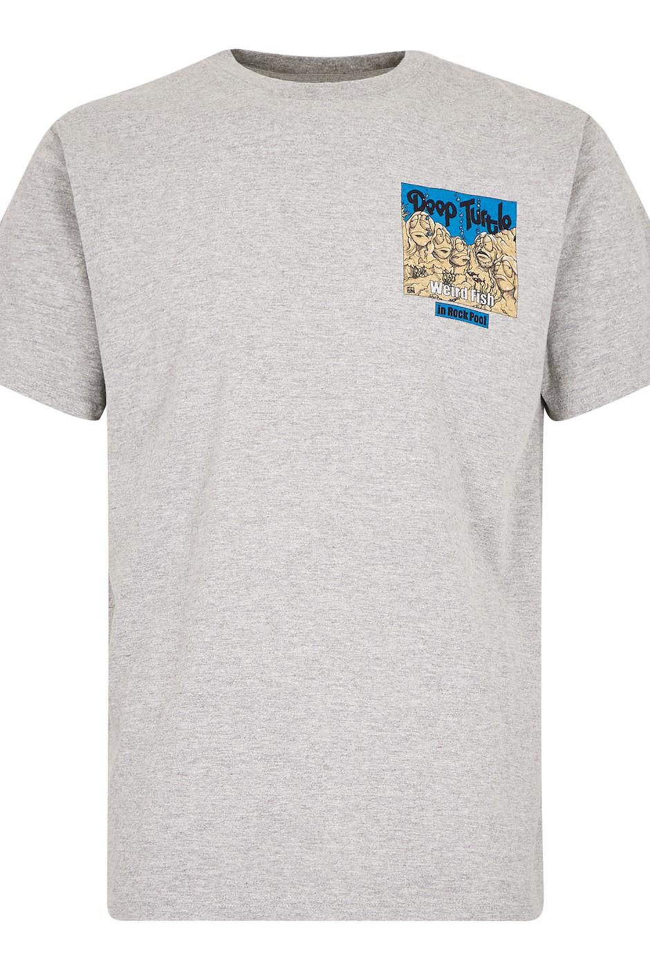 Deep Turtle Artist T-Shirt Grey Marl