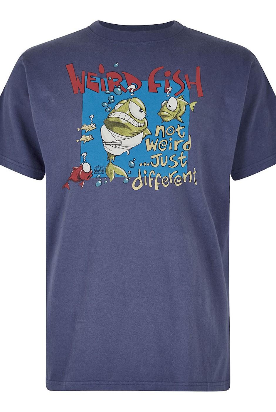 Not Weird Artist T-Shirt Blue Indigo