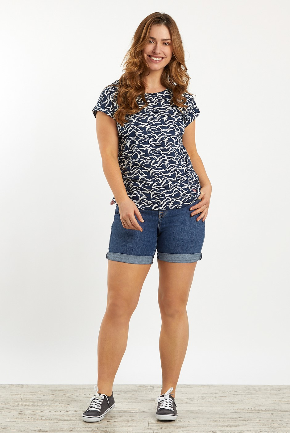 Paw Paw Patterned Jersey T-Shirt Dark Navy
