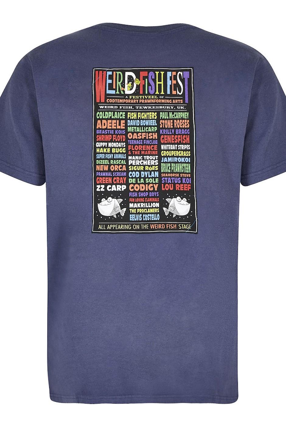 Weird Fish Fest Artist T-Shirt Blue Indigo