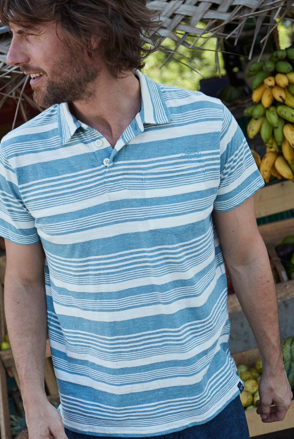 Tremaine Striped Polo Shirt Lead