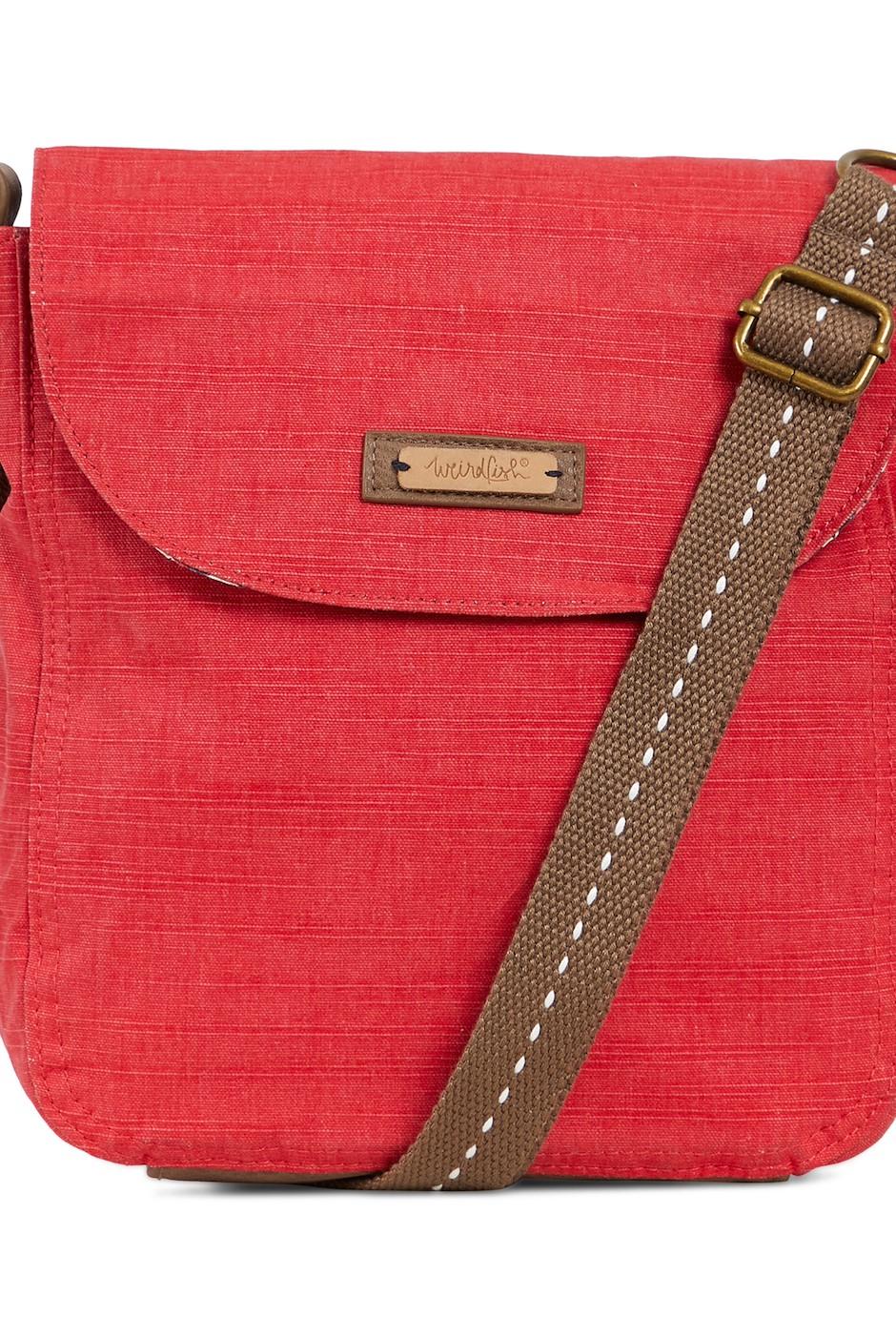 Loula Plain Cross Body Bag Radical Red
