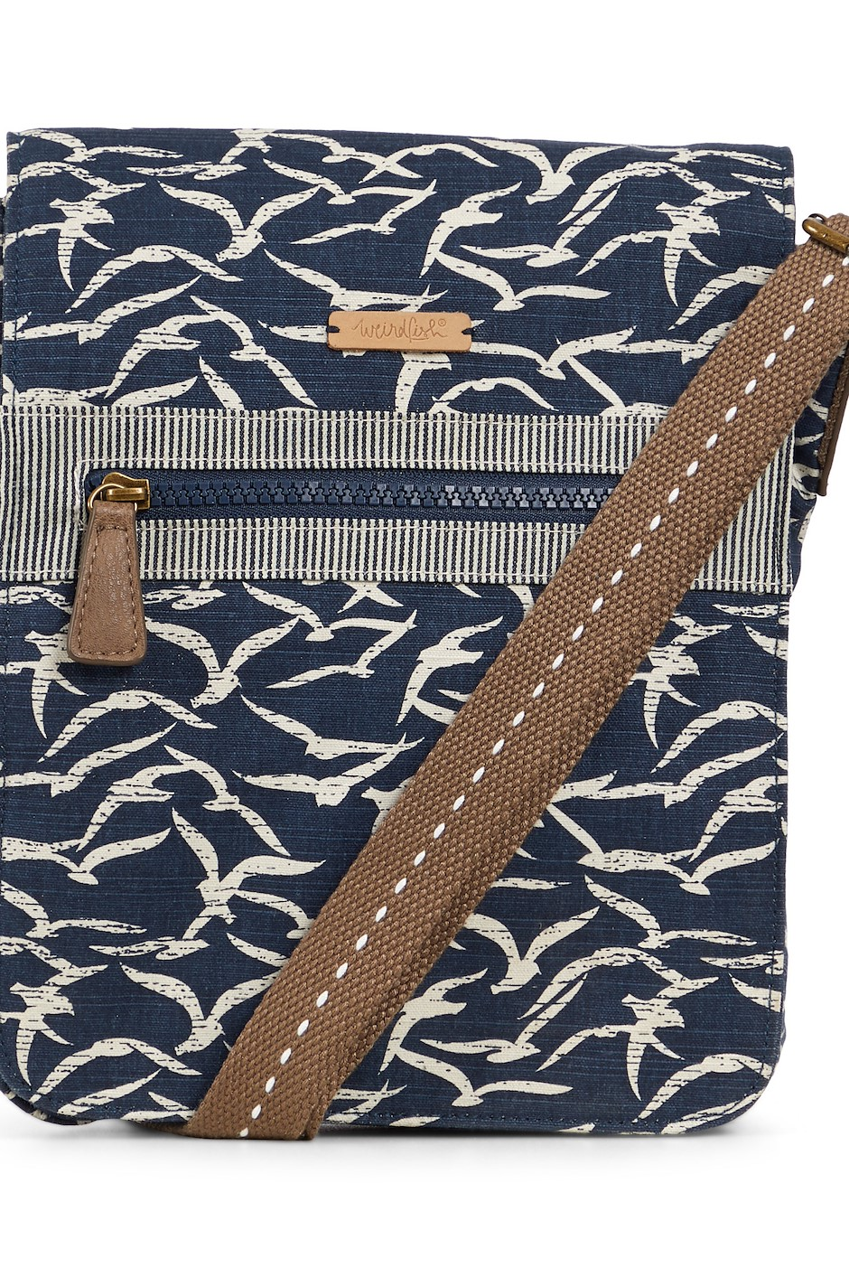 Hallie Patterned Cross Body Bag Dark Navy