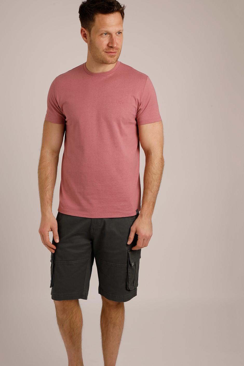 Fished Plain Branded T-Shirt Desert Rose
