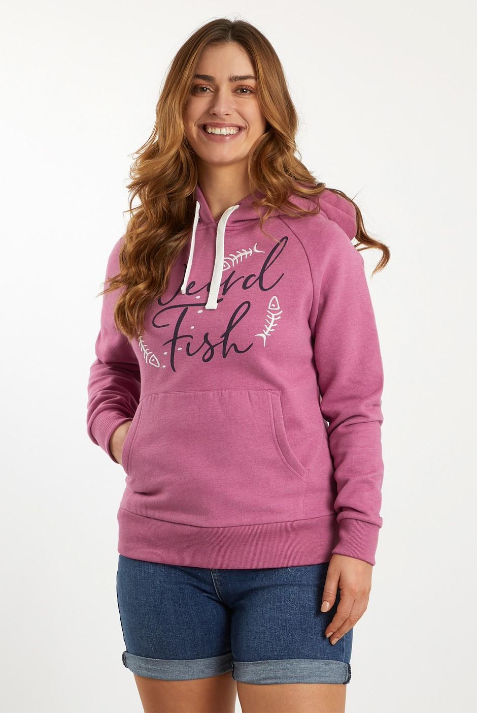 Anya Branded Popover Hooded Sweatshirt Magenta