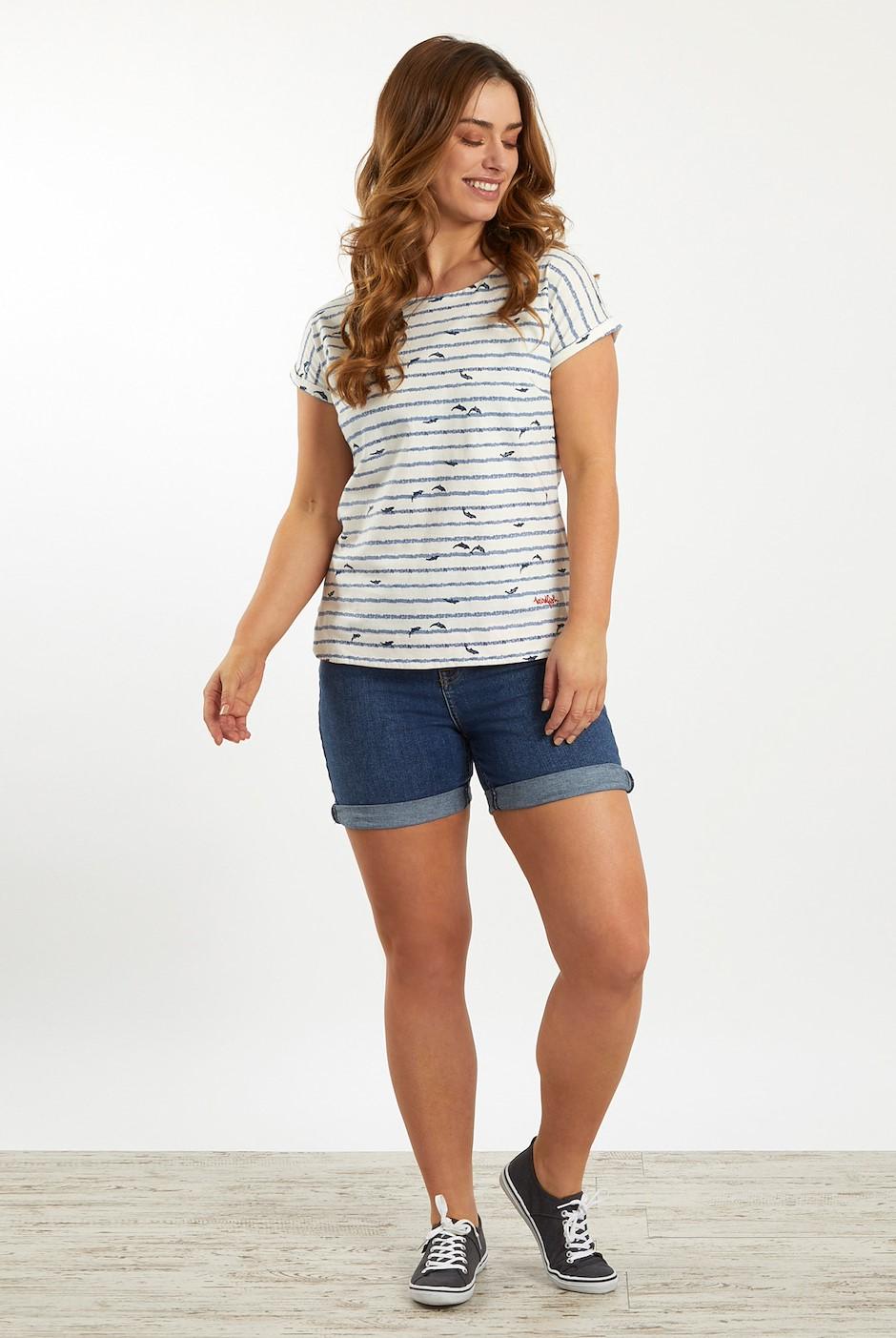 Paw Paw Patterned Jersey T-Shirt Light Cream
