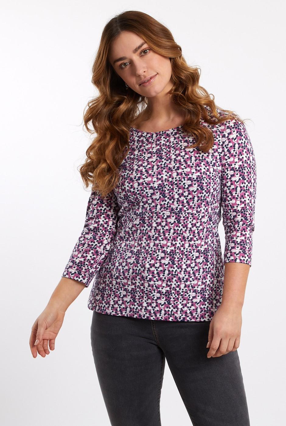 Pinto Printed Jersey T-Shirt Magenta