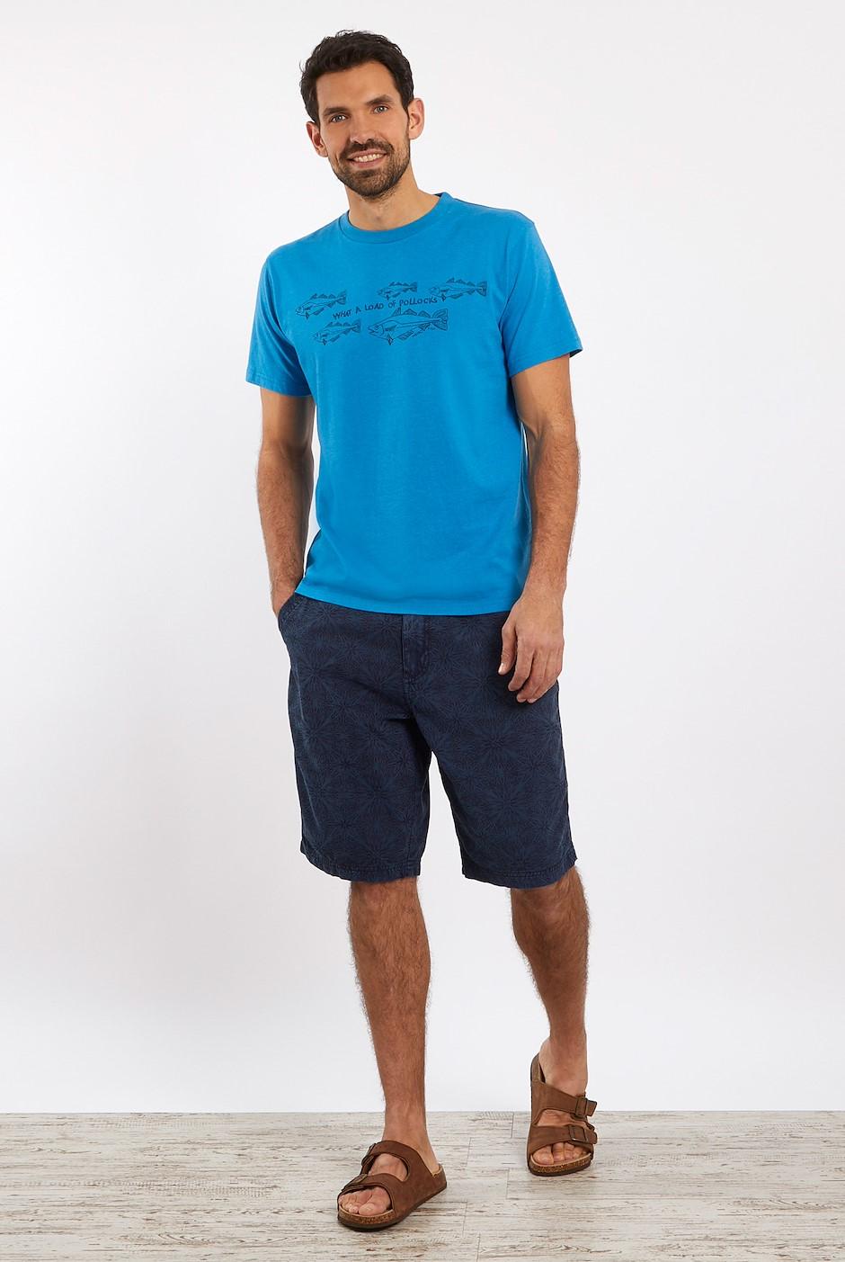 Pollock Organic Cotton Graphic T-Shirt Blue Wash
