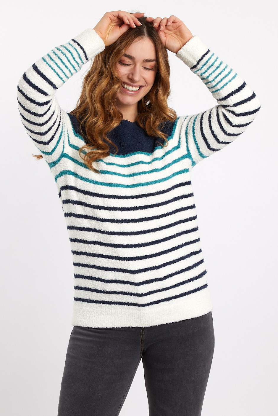 Vivi Striped Jumper Light Cream
