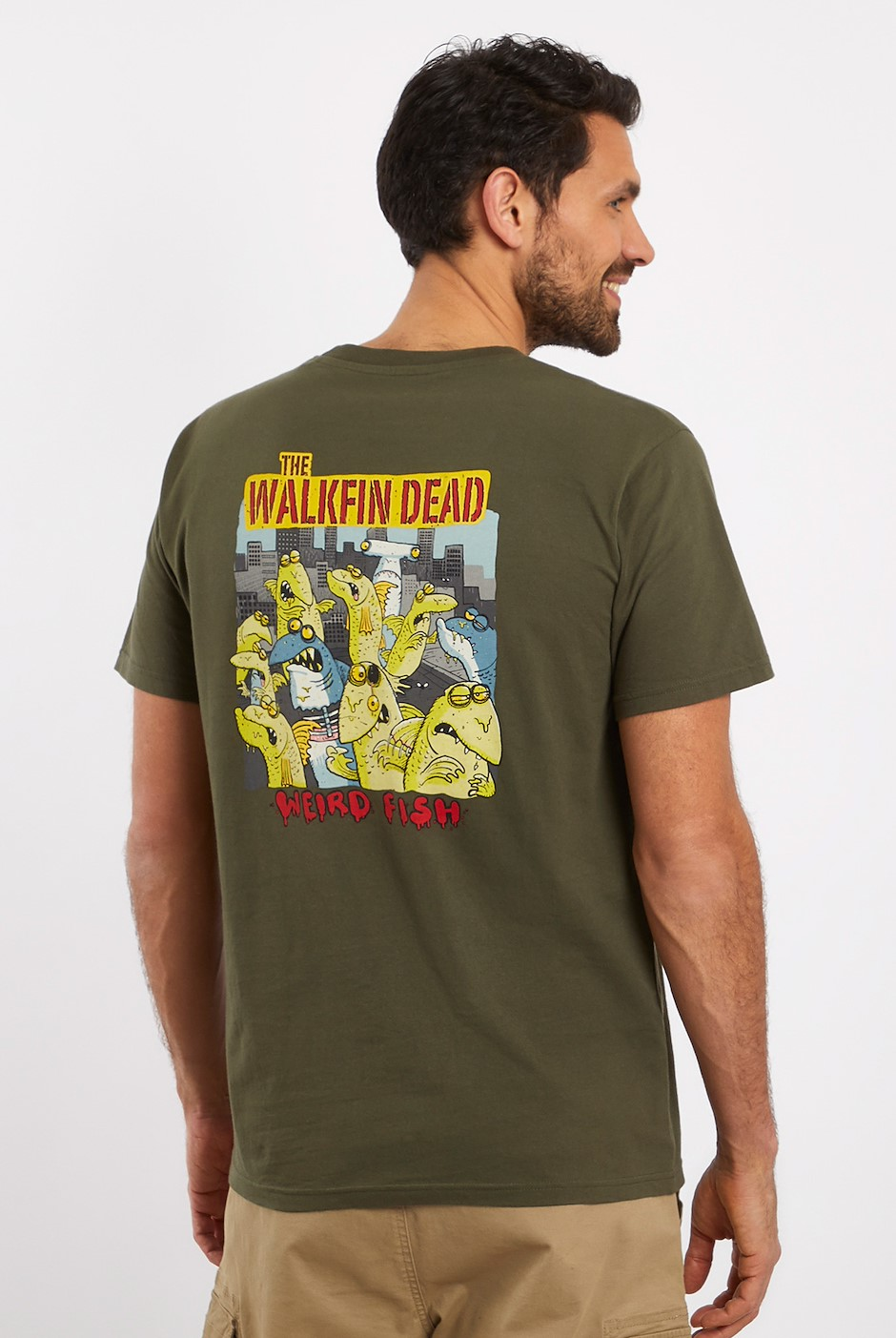 Walkfin Dead Artist T-Shirt Dark Olive