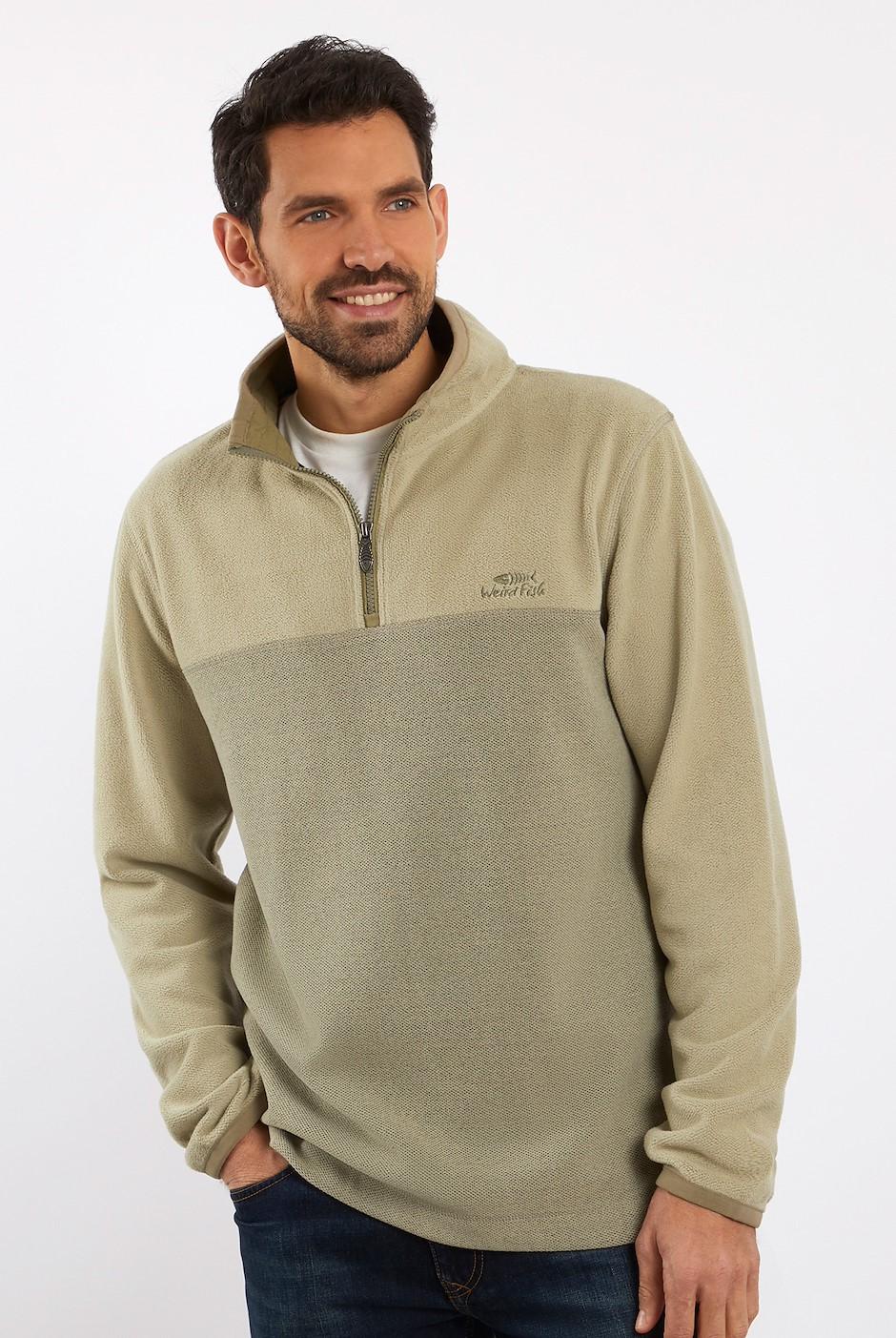 Rothay 1/4 Zip Fleece Sweatshirt Safari