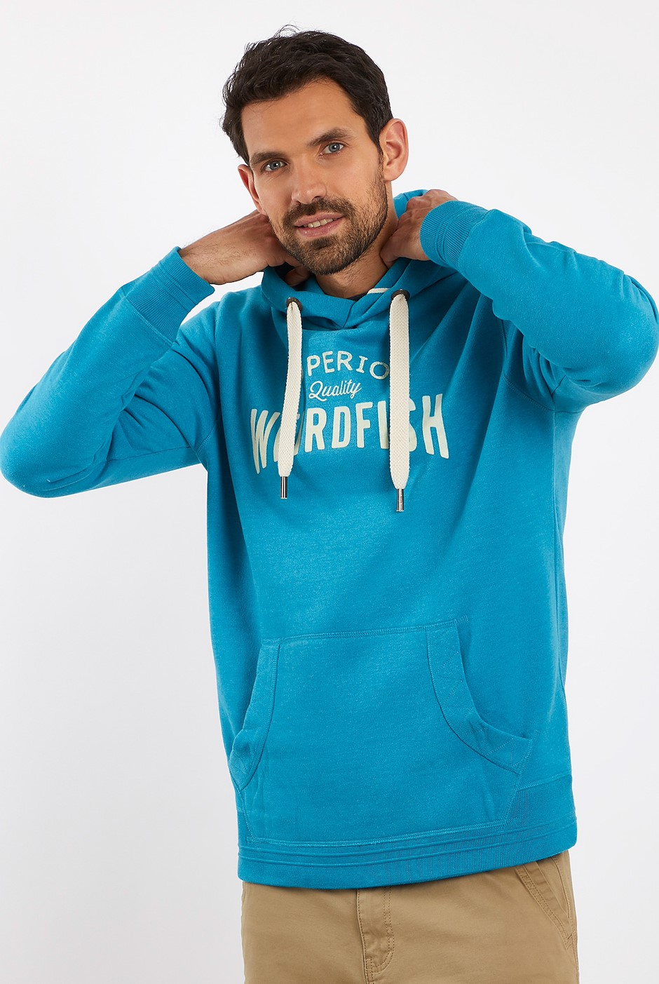 Quentin Graphic Popover Hoodie Pagoda Blue