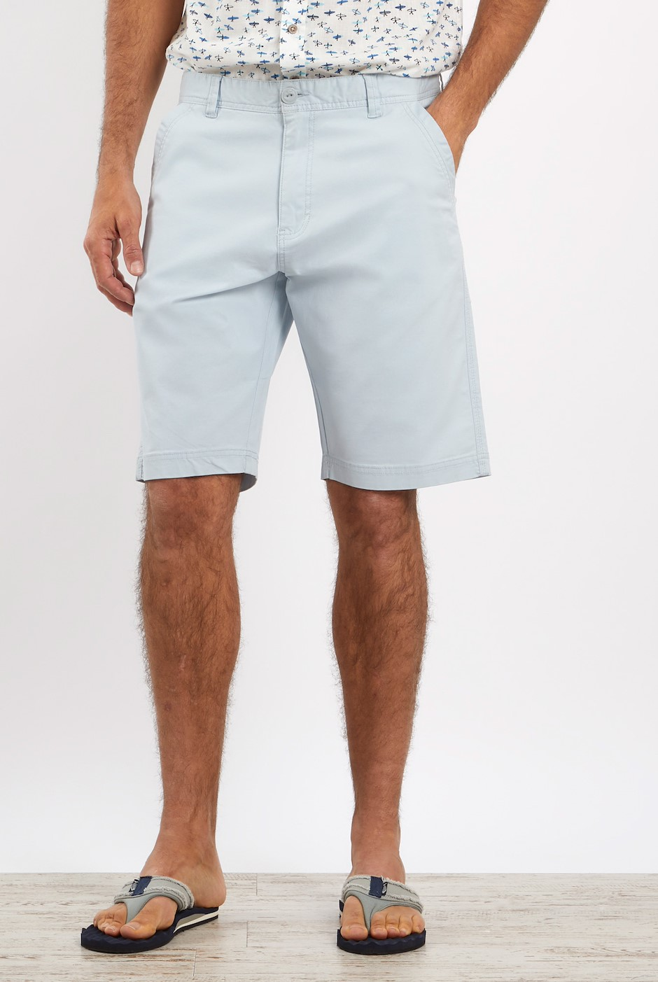 Ballina Relaxed Casual Shorts Ice Blue