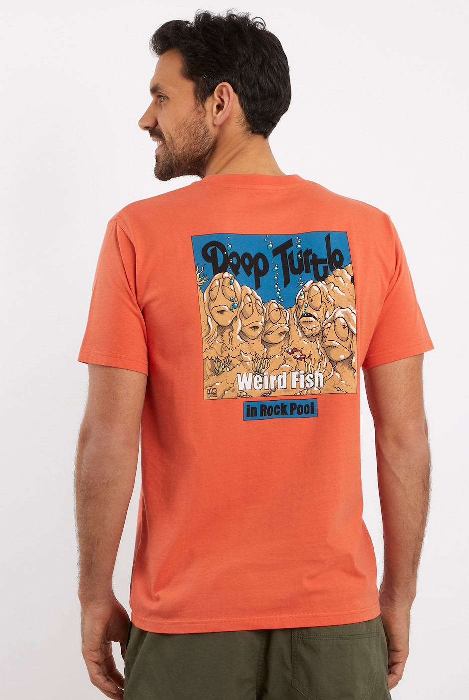 Deep Turtle Artist T-Shirt Orangeade