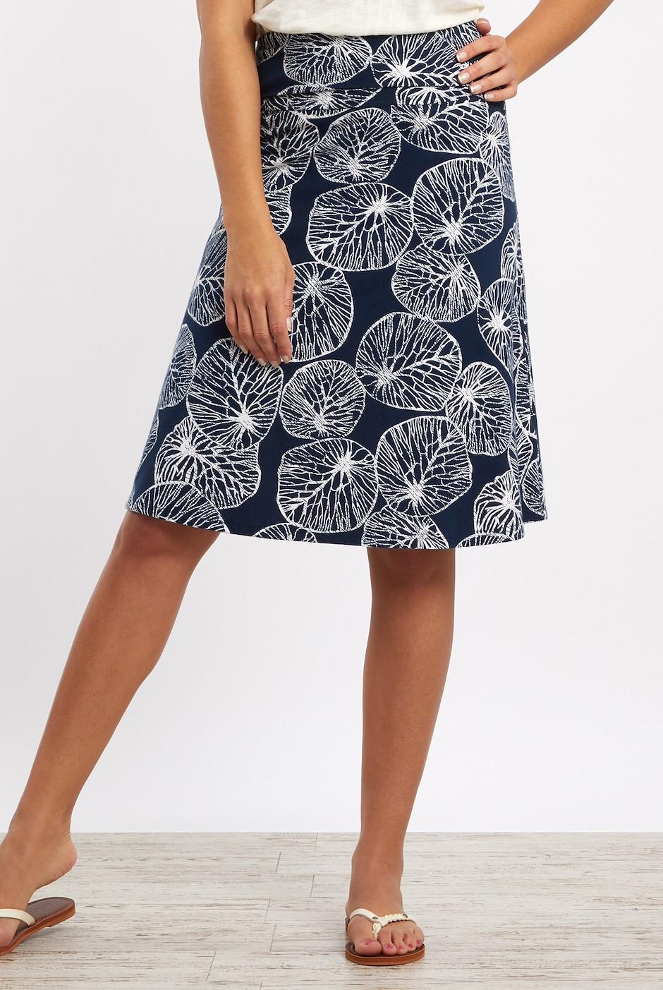 Malmo Patterned Jersey Skirt Midnight